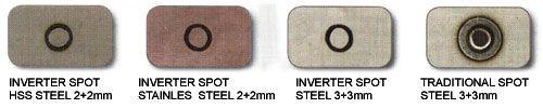 Образцы точечной сварки SPOT различными аппаратами TELWIN